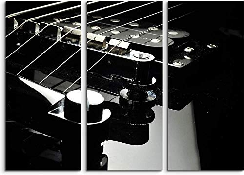 Dengjiam Leinwandbild Bausatz E-Gitarre nahe Wandbild auf Leinwand als Panorama