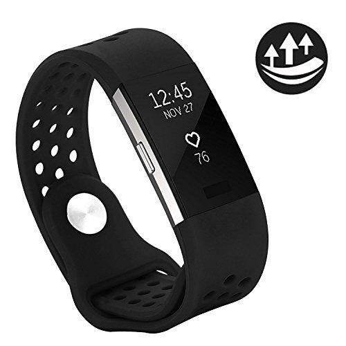 Fitbit Charge 2 Armband original, Yometome Weiche Silikon Uhrenarmband für Sport und Ersatz Klassisch Armband für Fitbit Charge 2