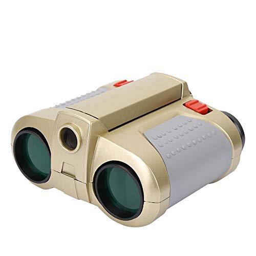 Kinderfernglas Tragbares Teleskop 4x30 Klappfernglas Nachtsichtfernrohr Outdoor Kinder Spielzeug Mit Licht(4 * 30 grüner Film)