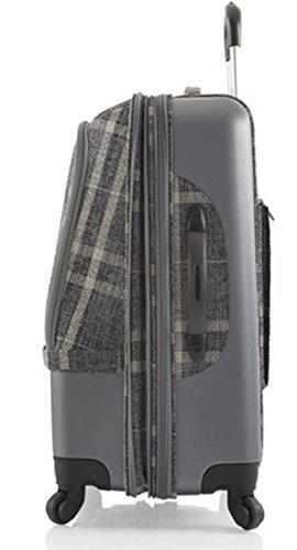 ... 50% SALE ... PREMIUM DESIGNER Hybrid Koffer - Heys Hybrid Spinner Edinburgh Rot/Schwarz - Trolley mit 4 Rollen Gross Rot/Schwarz