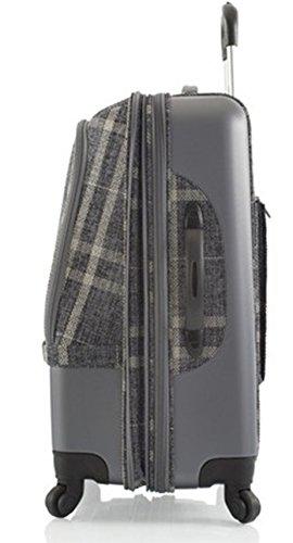 ... 50% SALE ... PREMIUM DESIGNER Hybrid Koffer - Heys Hybrid Spinner Edinburgh Grau/Weiss - Trolley mit 4 Rollen Medium Grau/Weiss