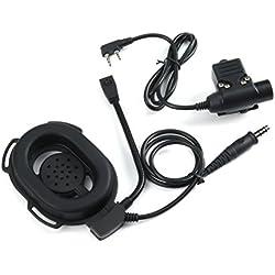 LUFA HD01 Headset militar táctico con U94 PTT para BaoFeng UV-5R GT-3 Radios UV-82 BF-888S