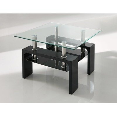 Calico Side Table Finish: Black