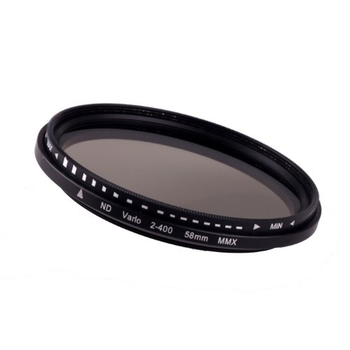 Fcostume 58 mm Fader Variable ND Filter Einstellbar ND2 bis ND400 Neutral Density