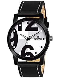 Swisstyle Analog-Digital White Dial Men's Watch-SS-GR089-WHT-BLK