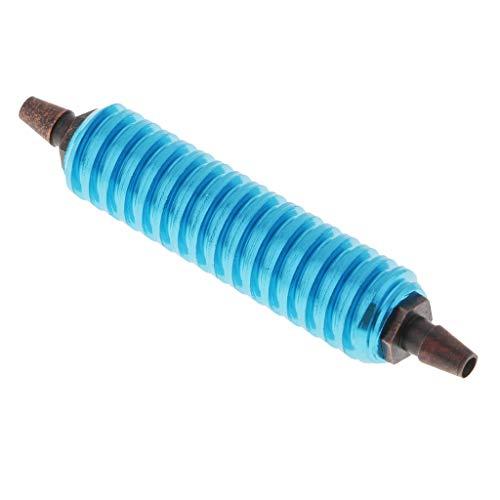 Homyl Benzinkühler Spritkühler Kraftstoff Kühler für 1/8 1/10 RC Auto - Blau