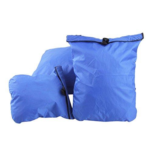 3pcs Bolsa Seca Deriva Impermeable Color Azul Real para Natación Viaj
