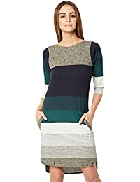 Miss Chase Women's Multicolored Striped Shift Dress