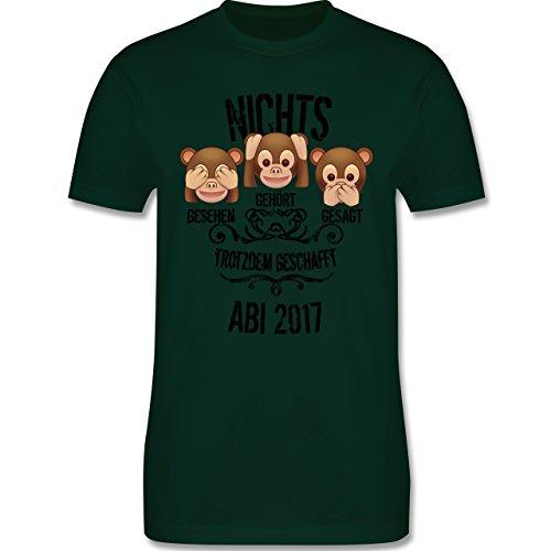 Abi & Abschluss - 3 Affen Emojis ABI 2017 - Herren Premium T-Shirt Dunkelgrün