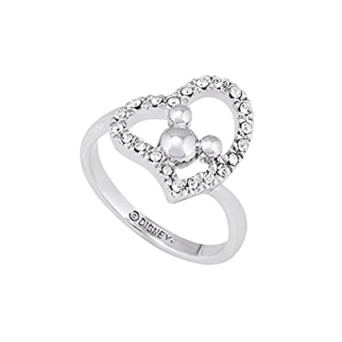 White Gold Plated Minnie Mouse Herz Ring von Disney
