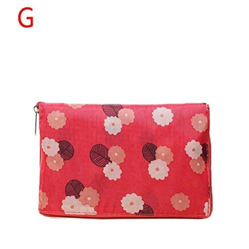 TAOtTAO Womens Shopping Travel Schultertasche Falten Eco Lebensmittelgeschäft Handtasche Tote Pouch Bag (G)