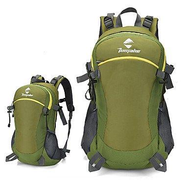 40 L Wandern Tagesrucksäcke Rucksäcke Camping & Wandern Leger Reisen FahhradRutschfest Anti-tragen Tragbar Windundurchlässig Atmungsaktiv Green