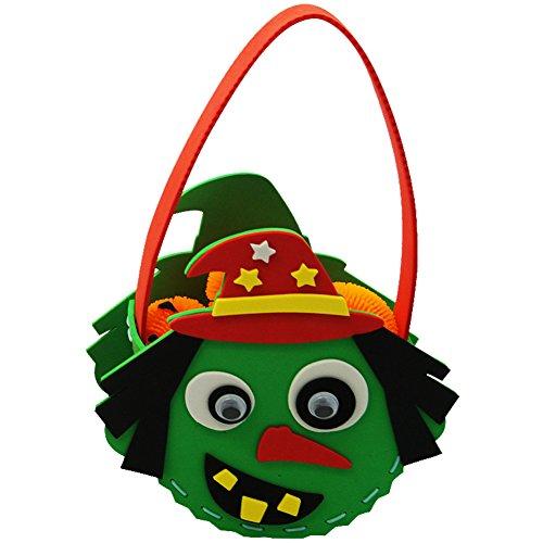 ndtasche Halloween Weihnachten DIY Tasche Süßigkeiten Beutel Mottoparty Dekoration Kinder Geburtstag Candy Bag Party (Diy Trick Or Treat Kostüme)