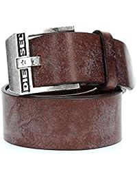 Diesel Homme Bluestar Leather Belt, Noir