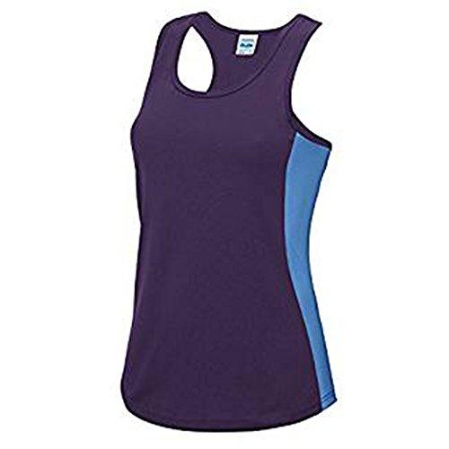 AWDis - T-shirt - Moderne - Femme Purple/ Sapphire Blue