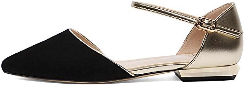 SHOESHAOGE Los Zapatos De Tacón Alto Zapatos De Mujer De Metal De Punta Ranurada Sandalias De Tacón Alto Zapatos... -