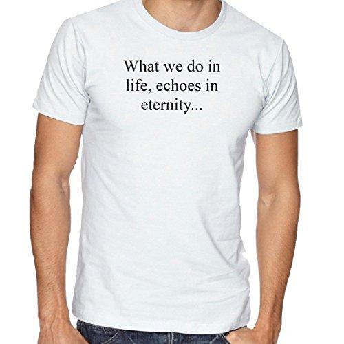 FOXUSA Cotton Round Neck Half Sleeves White Printed T-Shirt for Men