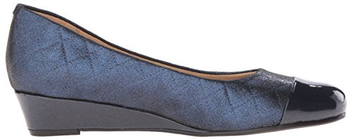 Trotters LANGLEY Synthétique Mocassin Navy Quilted