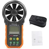 exing velocidad Anemómetro, Medidor de aire Velocidad Digital con Pantalla LCD grande y fondo, cambio nktionen para varios dispositivos.