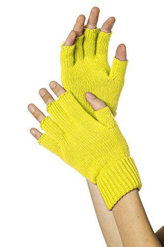 Mini-guantes, sin dedos, neón-amarillo