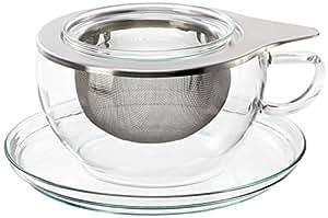 trendglas jena tea time teetasse mit edelstahlfilter 0 4 liter k che haushalt. Black Bedroom Furniture Sets. Home Design Ideas