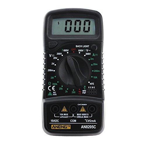 Molie Multimètre Numérique Multifonctionnel Professionnel Multimètre Portableavec Fonction de Mesure Température