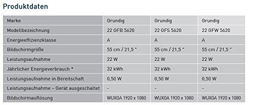 Grundig GFW 5620 55 cm (21,5 Zoll) Fernseher (Full HD, HD Trible Tuner) weiß - 3