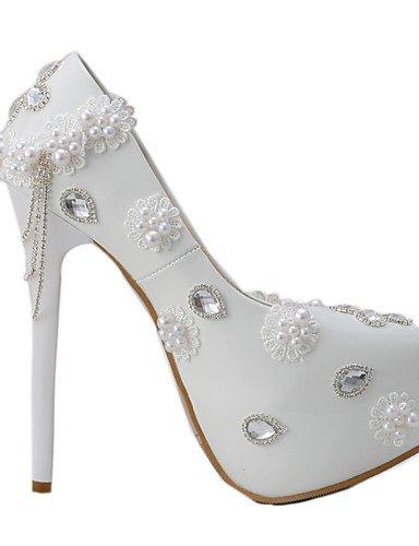 WSS 2016 Chaussures de mariage-Blanc-Mariage / Habillé / Soirée & Evénement-Talons-Talons-Homme 5in & over-us8.5 / eu39 / uk6.5 / cn40