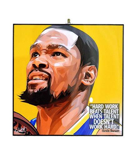 Pop-Art berühmter Basketballspieler Inspiration Zitate [Kobe Bryant] gerahmtes Acryl-Leinwand, Kunstdruck, modernes Wanddeko, 25,4 x 25,4 cm Modern 10 x 10 inch Kevin Durant