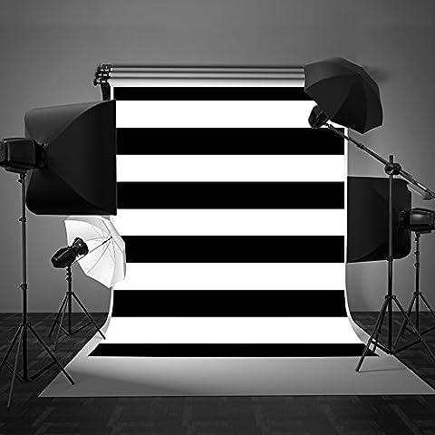 Kate Photographie toiles de fond Noir Blanc Bandes Sans couture