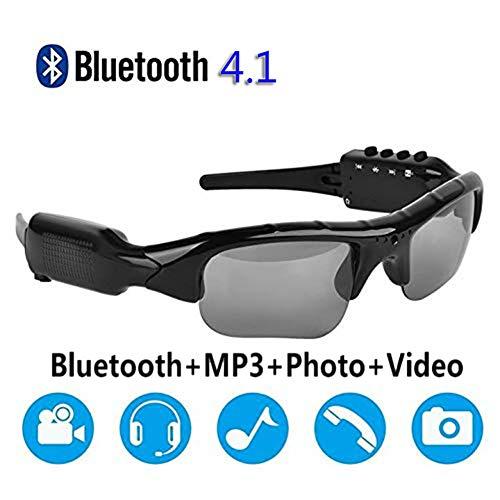 NAMENLOS Mini-Kamera Multifunktions-Sonnenbrille HD 1080P Camcorder mit Bluetooth-Kopfhörern Outdoor-Videorecorder Musikspielbrille Unterstützung TF-Karte