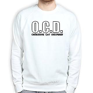 OCD Obsessive Cat Disorder - Kitty Kitten Pet Sweatshirt 3XL White