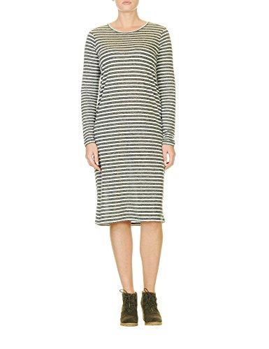 Ichi Women's Jasmin Women's Burgundy Striped Dress Green