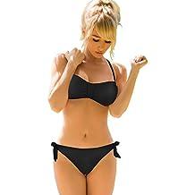 Bikini Trajes de baño Mujer de OMORC, Push-up Bikini dos piezas, Ropa de baño con Correas ajustables,perfecto para Playa, Piscina, Fiesta, Natación-XL