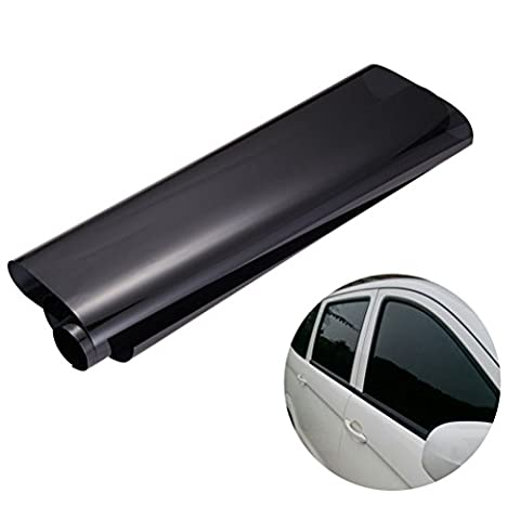WINOMO 50cm × 3M Car Window Tint Film Universal Glass Vinyl Film for for Privacy and Heat Reduction(Black)