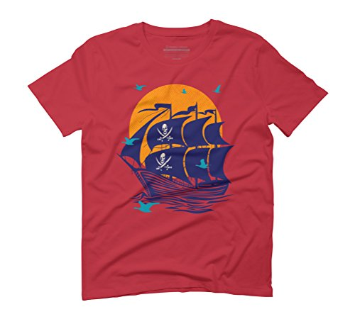 Pirates By The Seagulls Bay Men's Graphic T-Shirt - Design By Humans Red