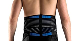 Brand New Deluxe Neoprene Double Pull Lumbar Lower Back Support Brace Exercise Belt (XXL (42-46''/106-116cm)) (B00DZKG9CU) | Amazon price tracker / tracking, Amazon price history charts, Amazon price watches, Amazon price drop alerts