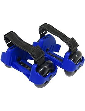 WINNEG Kinder Erwachsene 4 LED Farben Light Up PU Flashing Heelys Verstellbare Rollschuhe Räder, max Tragkraft...