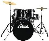 "XDrum Rookie 20"" Studio Schlagzeug Komplettset Black inkl. Schule + DVD"