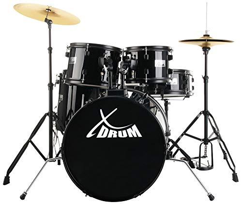 XDrum Rookie 20' Studio Batteria acustica completa, nera, professionale, scontatissima, affare