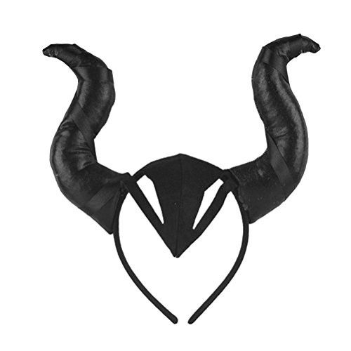 BESTOYARD Bulls Horns Stirnband Halloween Kostüm OX Horn Cosplay Headwear Foto Requisiten Haarband Halloween (Kentucky Derby Party Supplies)