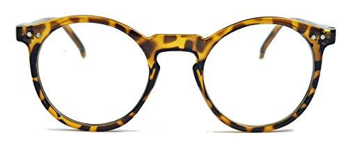 50er Jahre Nerd Brille Vintage Look Streberbrille Rockabilly Hornbrille braun / clear lens
