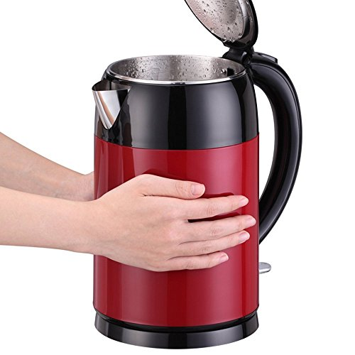 BCQ Electric Kettle Stainless Steel Red 1800W 2L Automatic Power off Insulation Home Travel Electric Kettles