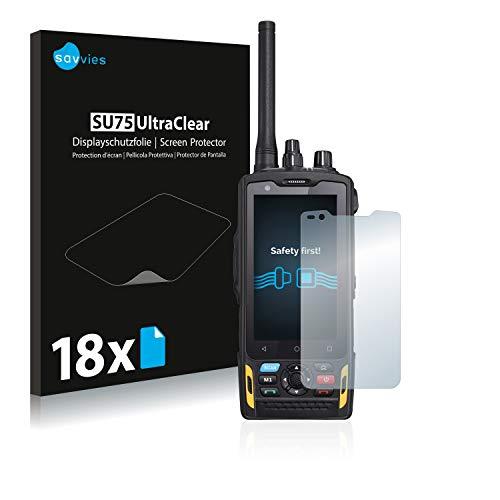 Savvies Schutzfolie kompatibel mit RugGear RG760 (18 Stück) - ultraklare Bildschirmschutz-Folie