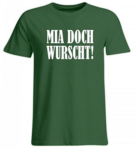 Shirtee Hochwertiges Übergrößenshirt - MIA Doch WURSCHT! - Bayerisch · Boarisch · Bayrisch · Shirt · Lustig · Spruch · Pulli · Jacke · Hoodie · T-Shirt · Geschenk (T-shirt Humor Grünes Bier)