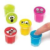 Baker Ross Geräuschmasse Lustige Gesichter für Kinder zum Spielen, perfekt als kleine Überraschung oder als Preis bei Partyspielen (6 Stück)