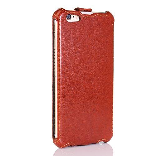 Étui iPhone 6 / 6s, Urcover Flip Fashion Series Housse Coque Simili Cuir Téléphone Smartphone Marron Clair pour Apple iPhone 6 / 6s Case Flip Cover Marron Clair