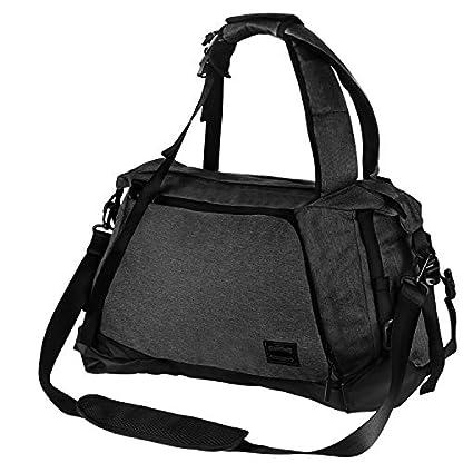 Lifeasy-Sporttasche-mit-Schuhfach-40L-Fitnesstasche-Wasserdicht-Weenkender-Tasche-3-in-1-Canvas-Reisetasche-Handgepck-Sportrucksack-fr-Mnner-und-Frauen-Black