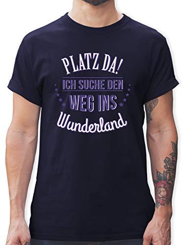 - Ich Such den Weg ins Wunderland - 3XL - Navy Blau - L190 - Herren T-Shirt und Männer Tshirt ()