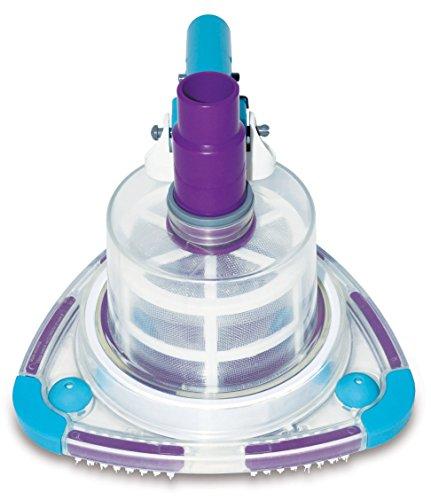 Poolomio Pool-Bodensauger mit integriertem Vorfilter, V-Strap Poolbürste, handlicher Sauger für jeden Pool, geeignet für Schläuche mit Ø 32 mm & Ø 38 mm